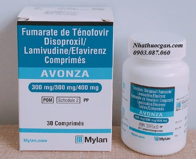 thuoc avonza chua hoat chat tenofovir, lamivudine, efavirenz dieu tri nhiem hiv - gia thuoc avonza bao nhieu