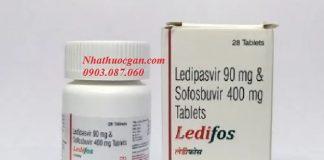 Hai thành phần hoạt chất chính của thuốc ledifos là ledipasvir 90mg và sofosbuvir 400mg