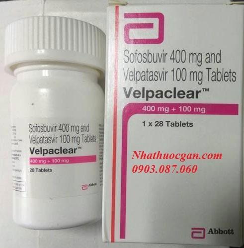 thuoc velpaclear bao gom sofosbuvir 400mg va velpatasvir 100mg - cong dung thuoc velpaclear la gi-min
