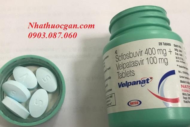 thuoc velpanat hoat chat velpatasvir 100mg va sofosbuvir 400mg - gia thuoc velpanat bao nhieu