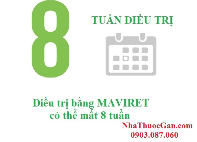 dieu tri bang maviret co the mat 8 tuan