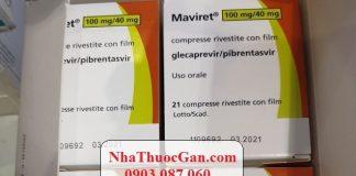 thuoc maviret dieu tri viem gan c hoat chat glecaprevir 100mg pibrentasvir 40mg
