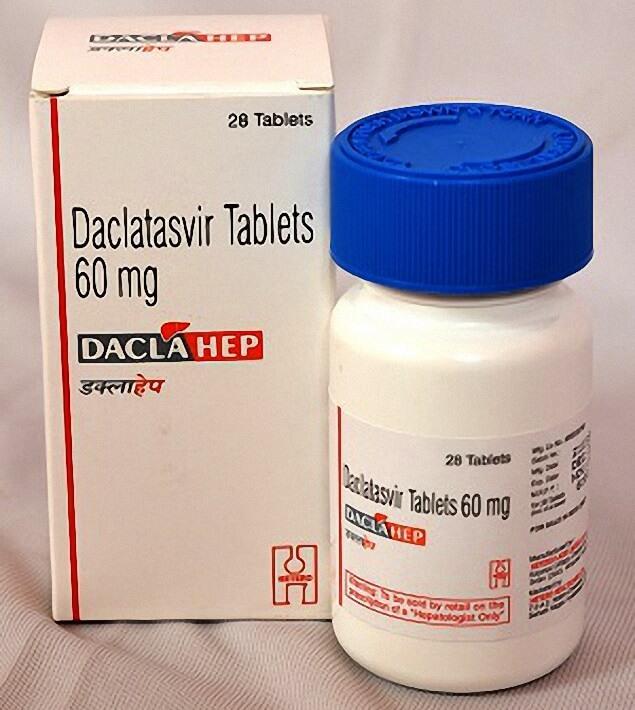 Thuốc Daclahep hoạt chất Dalsiclatasvir 60mg, hộp 28 viên, điều trị viêm gan c