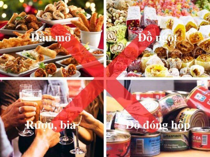 khong nen su dung thuc pham chua dau mo do an ngot ruou bia