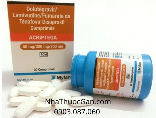 Thông tin thuốc Acriptega điều trị HIV/AIDS